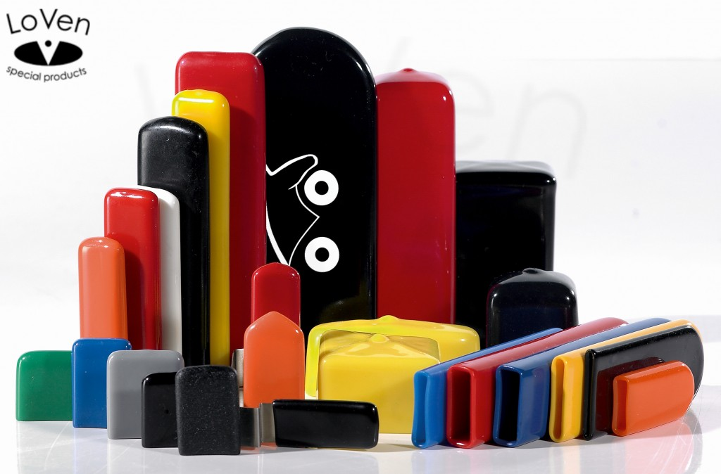 We produce rectangular vinyl caps in various standard sizes and colors